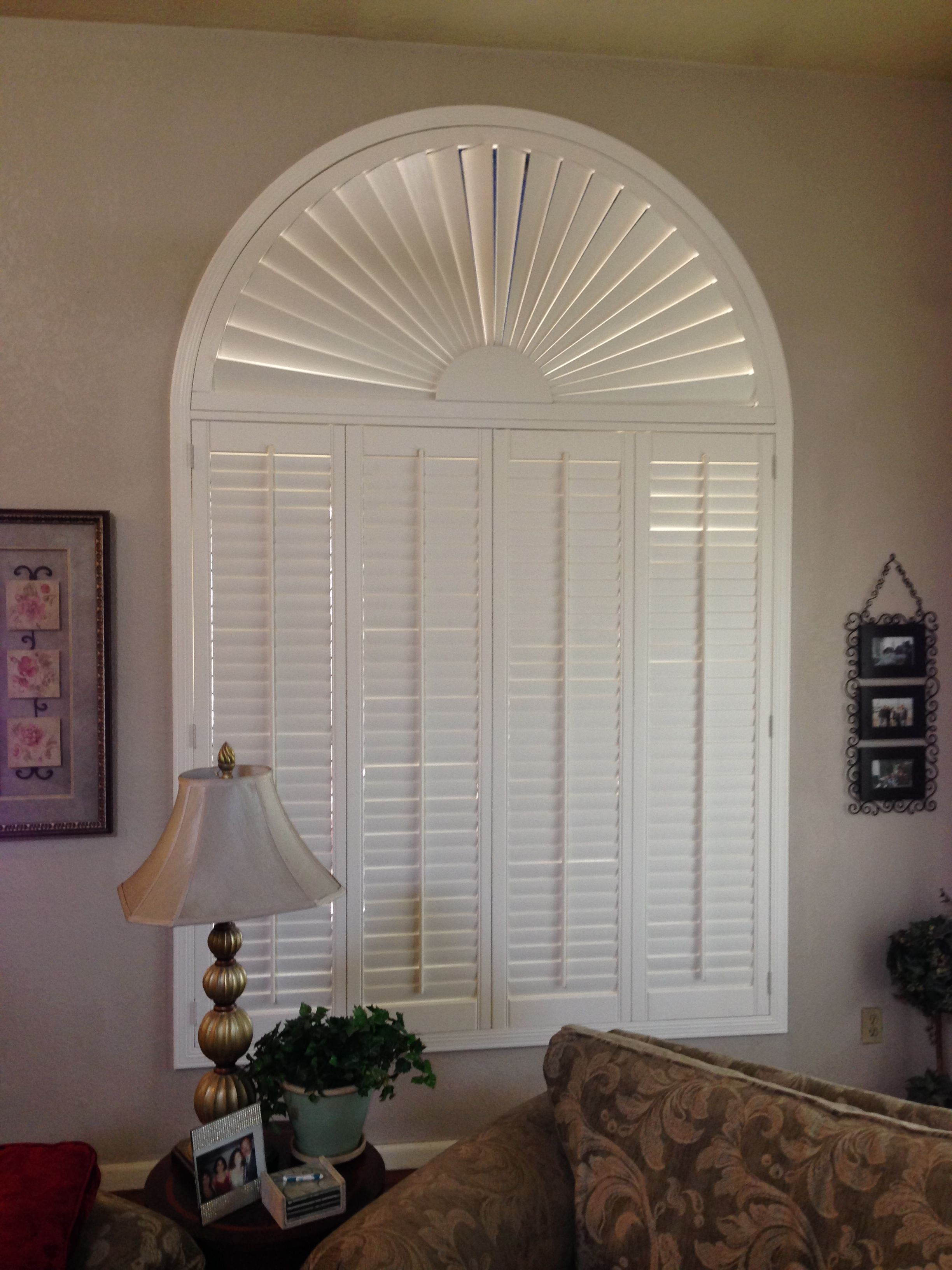 Sunburst Shutter Southwestblinds Wood Shutters Window Coverings Blinds Wooden