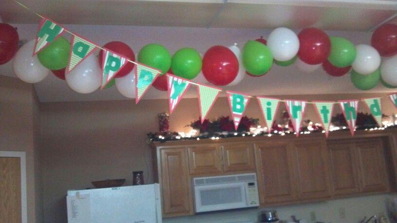 Happy Birthday Jesus Banner Balloon Garland