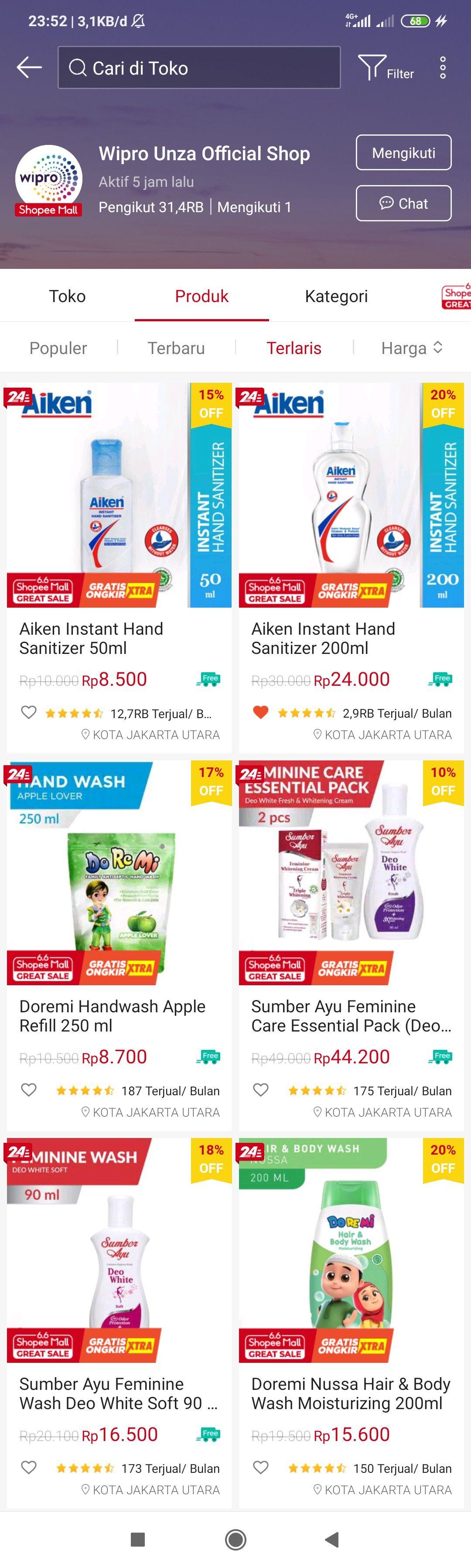 Hand Sanitizer Aplikasi Produk Filter