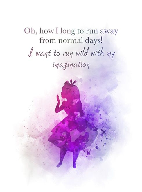 Alice In Wonderland Tea Party Quote ART PRINT Mad Hatter, Gift, Wall Art, Home Decor