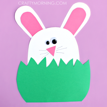 This Adorable Construction Paper Bunny Is A Wonderful Craft For Easter Time