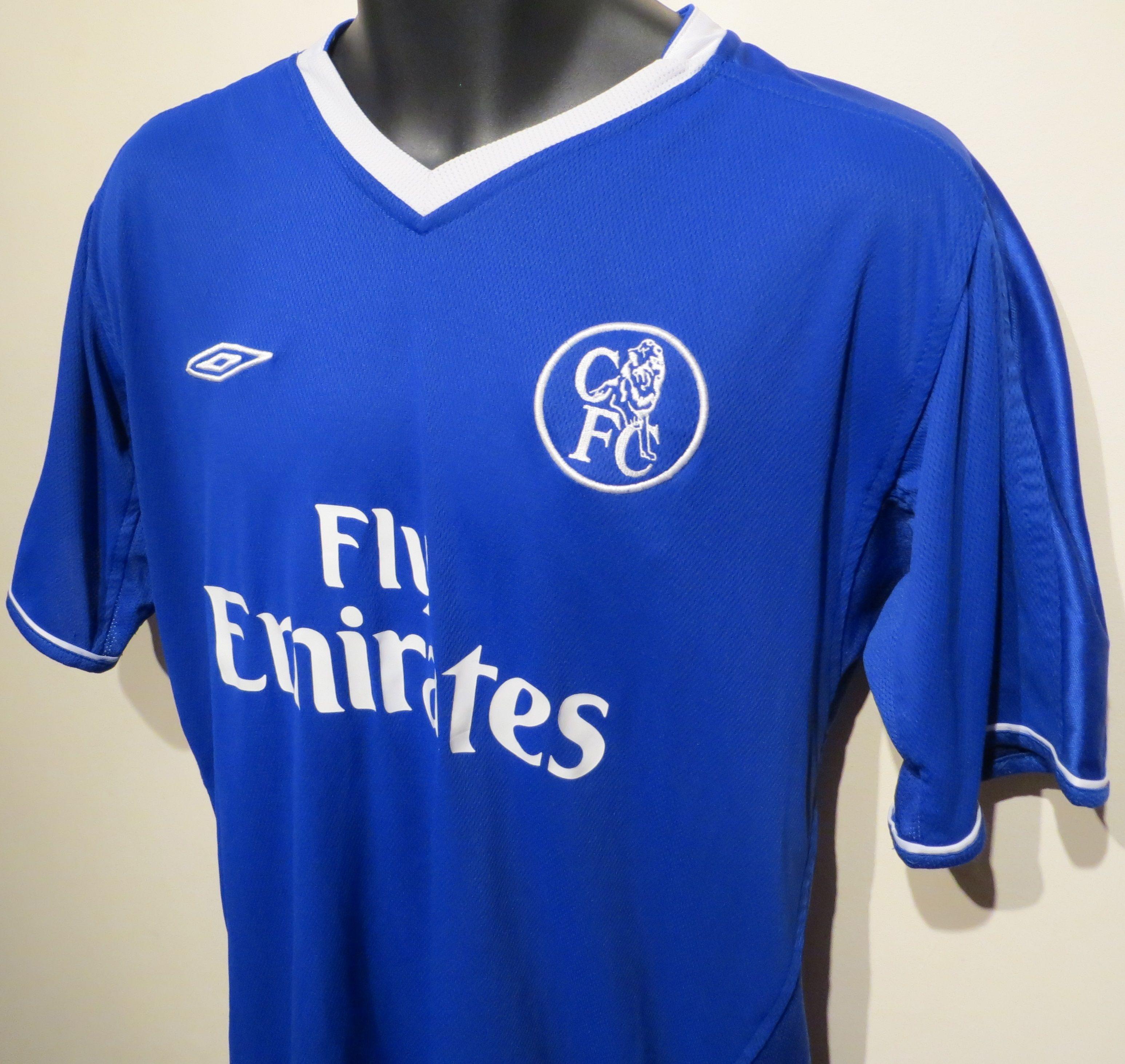 hot sale online 18699 98fb9 Chelsea shirt by Umbro. | Retro Football Shirts | Retro ...