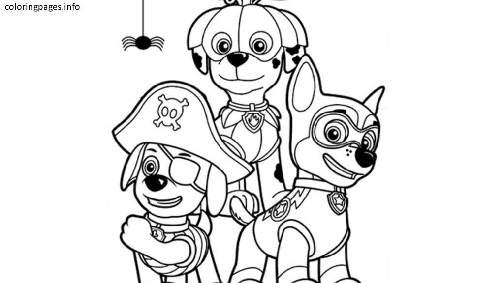 paw patrol halloween coloring pages | Coloring Pages | Pinterest ...