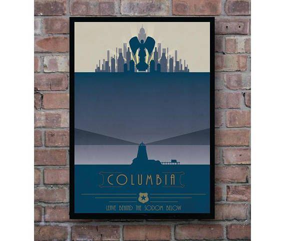 Bioshock Infinite Columbia Propaganda Minimal Video Game Home Decor Minimal  Poster