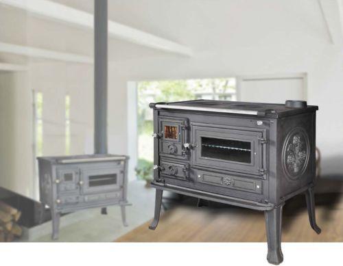 Cucina con forno stufa a legna viometalko firenze in ghisa
