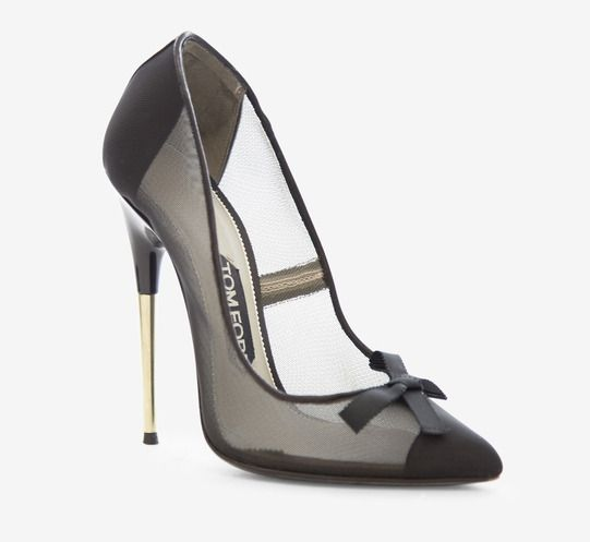 cbd5a408848 Tom Ford Black And Silver Pump  LOVE
