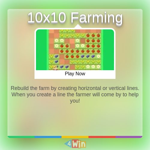 10x10 Farming Game Free Online Games Play Online Free Online Games Farm Games