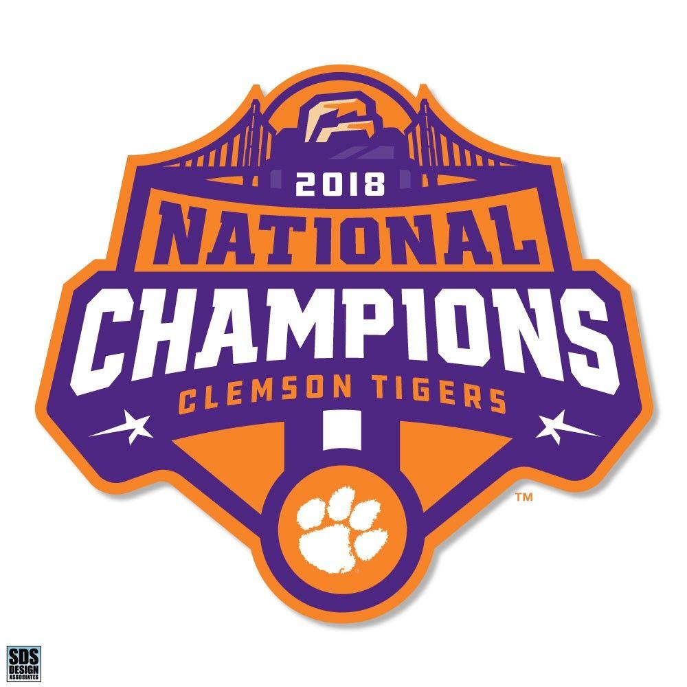 2018 National Champion Logo Magnet In 2020 Clemson Tigers Wallpaper Clemson Tigers Football Clemson