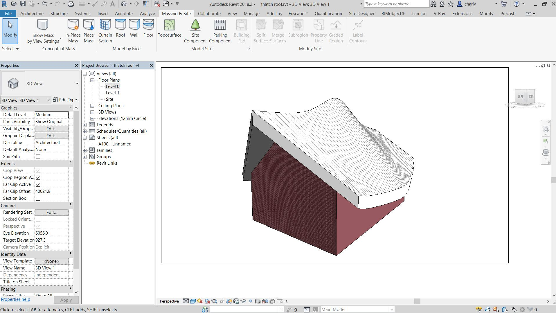 How To Create A Thatch Roof In Revit Thatched