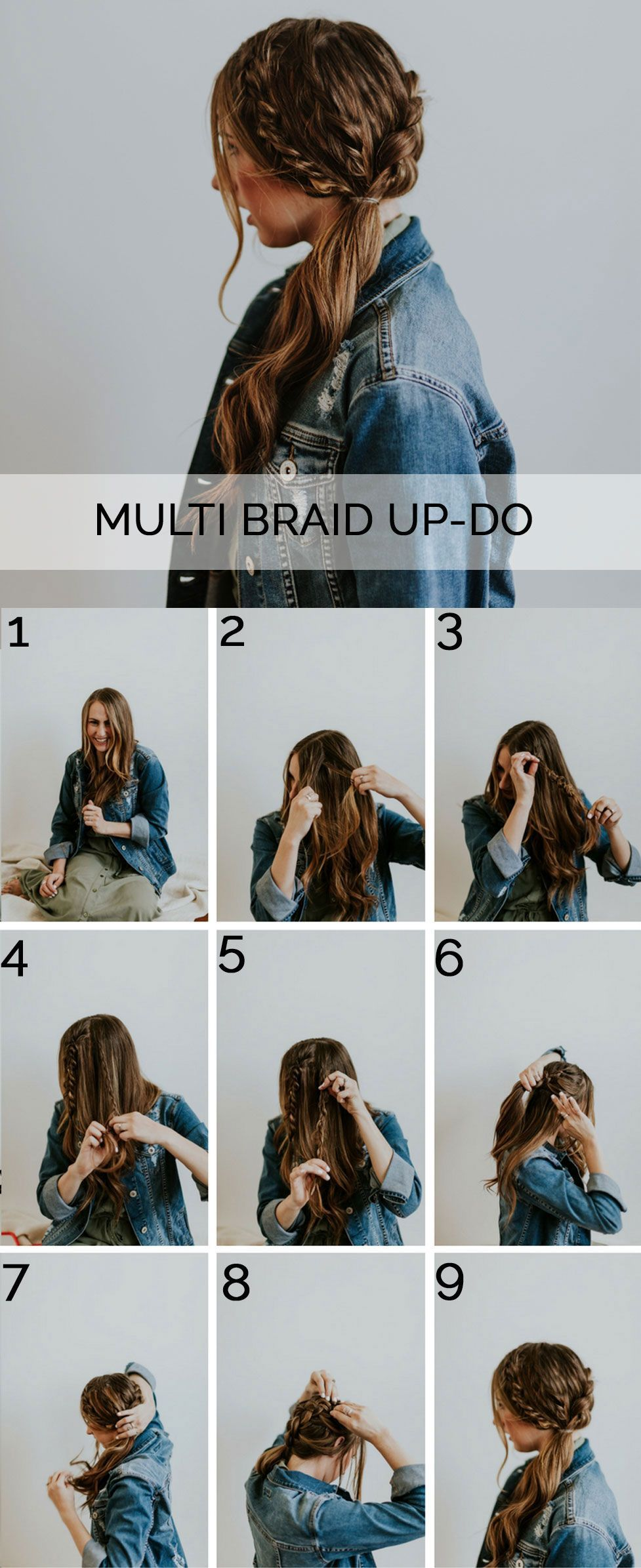 An easy braided look for fall with step by step instructions to