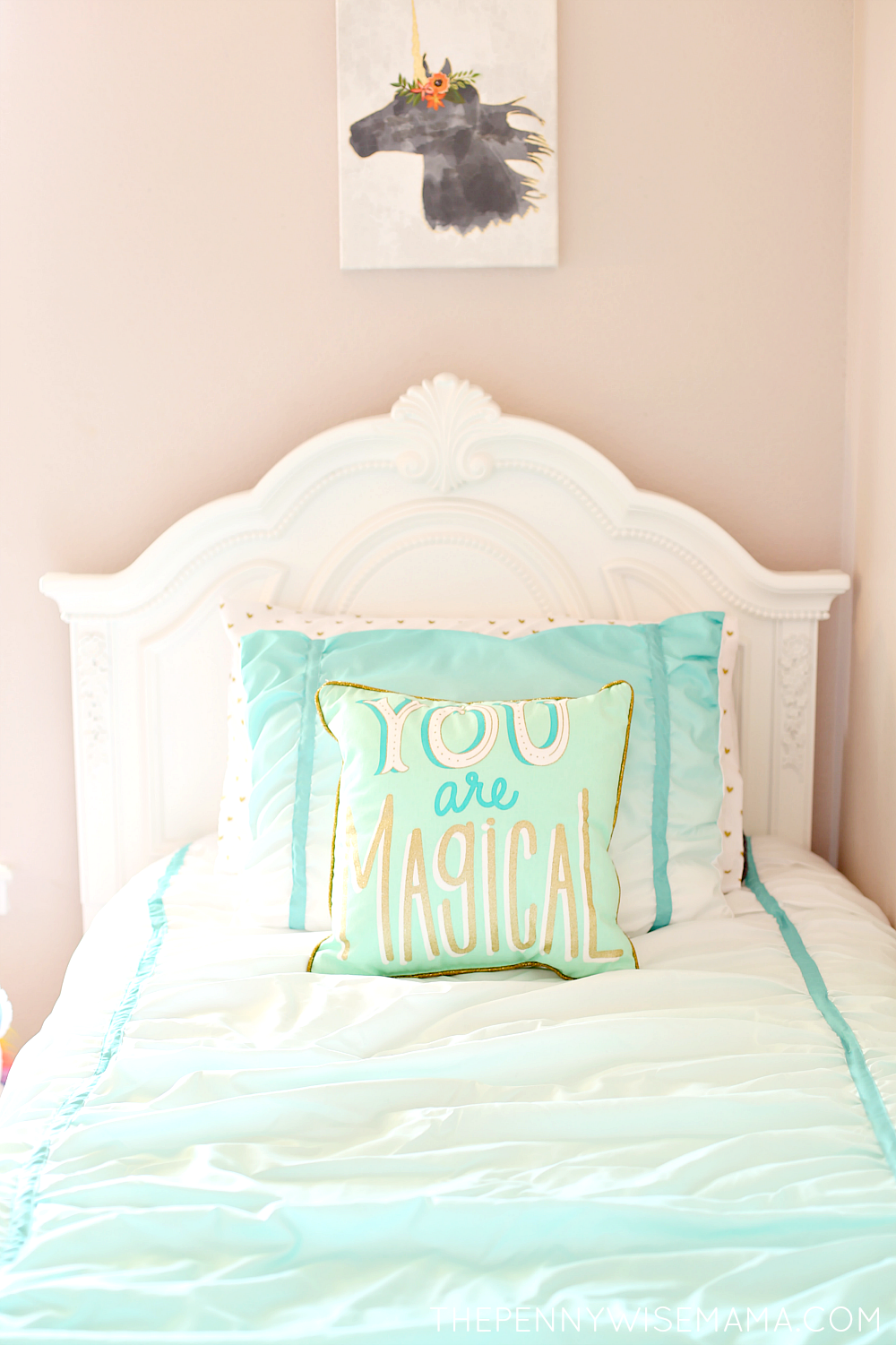 Magical Girls Room Jessica White Bed From American Furniture Warehouse Bedroom Tween Girl Bed Tween Girl Bedroom Girls Bedroom Makeover Tween Girls Room