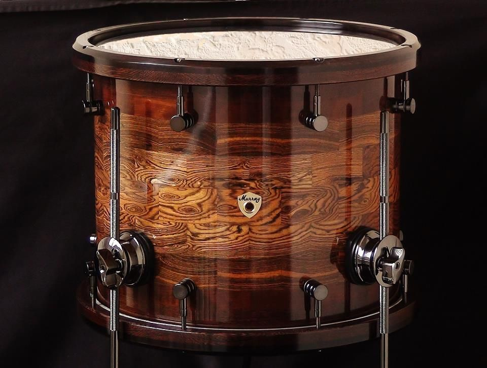 4 X 12 Bocote Dark Birch Wenge Floor Tom Wenge African Blackwood Segmented Hoops Black Chrome Hardware Sounds A Drum Kits Percussion Instruments Drums