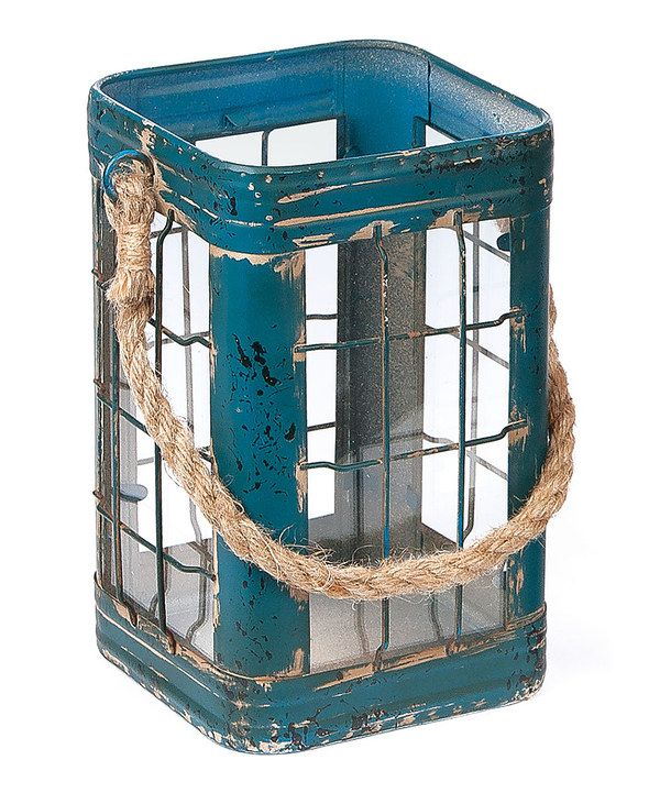 Look at this Tin & Glass Lantern on #zulily today!