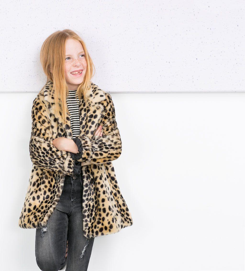 1350ba93 Leopard print coat-Coats-Coats-Girl-Kids | 4-14 years-KIDS | ZARA ...