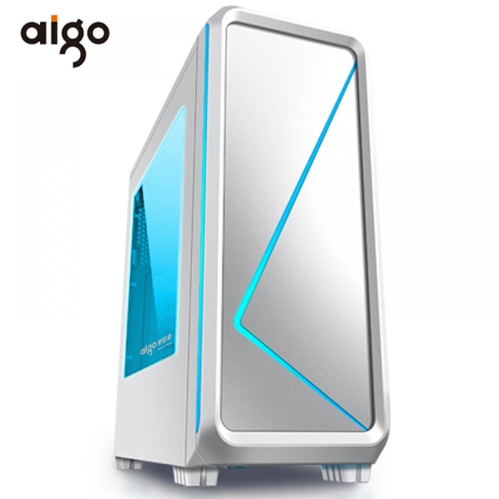Aigo Atx Mid Tower Gaming Computer Case 240mm Water Cooling Pc Fan