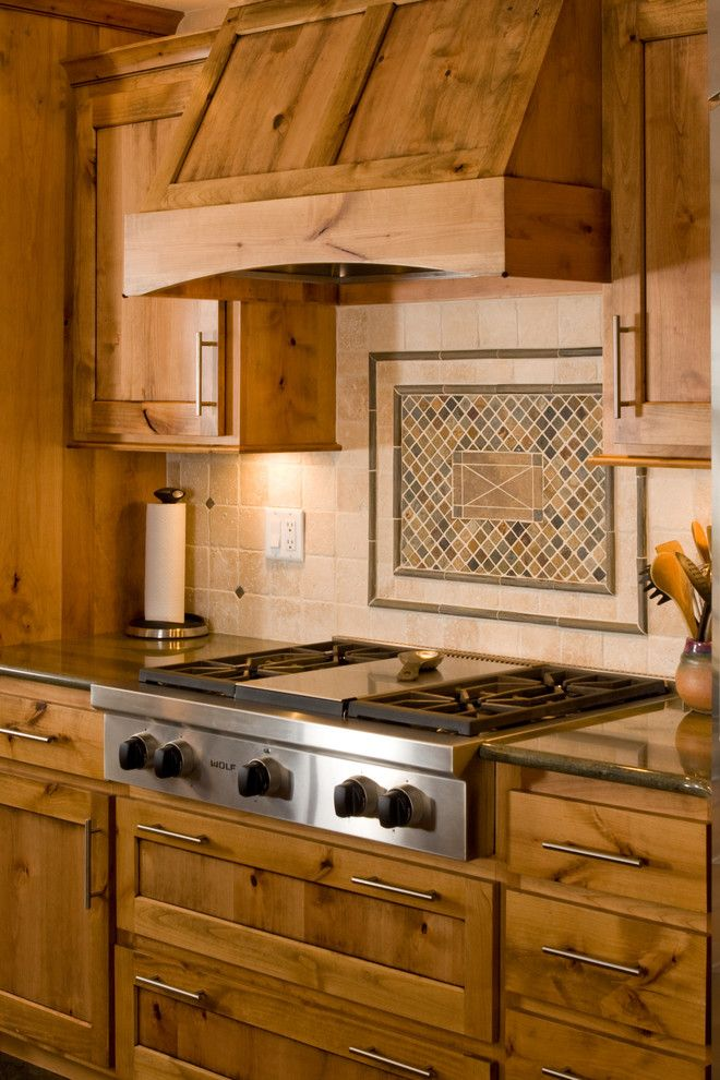 Wood Range Hood Kitchen Traditional With Cooktop Hood Kitchen Range