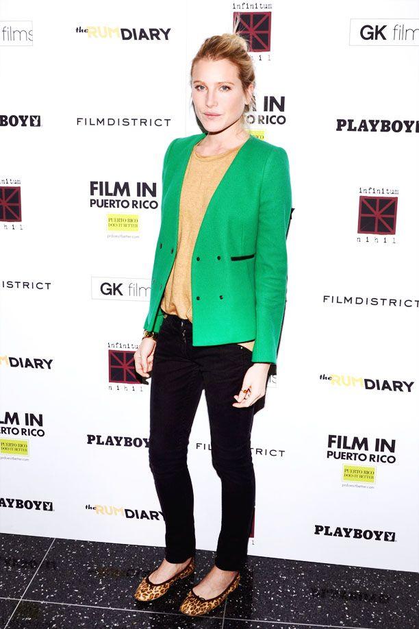 Dree Hemingway in Green