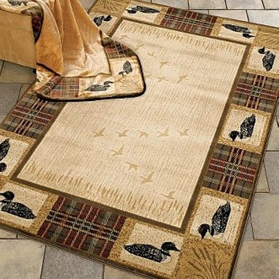 Tartan Loon Duck Lodge Plaid Border Area Rug Amp Throw