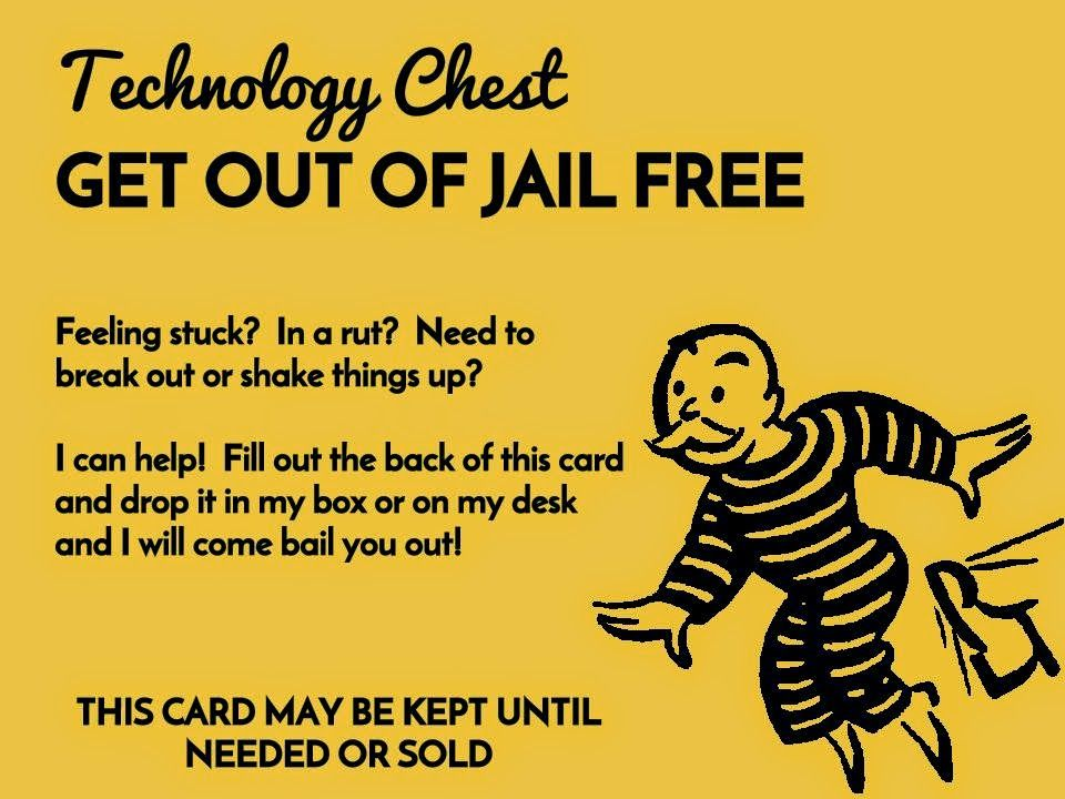 Edtech Chic Instructional Technology Get Out Of Jail Free Card How Are You Engaging Secondary Teachers Instructional Technology Secondary Teacher Jail