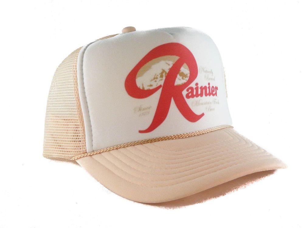 cc36e7fd Rainier Beer hat Trucker Hat mesh hat snapback hat khaki new adjustable # Unbranded #TruckerHat