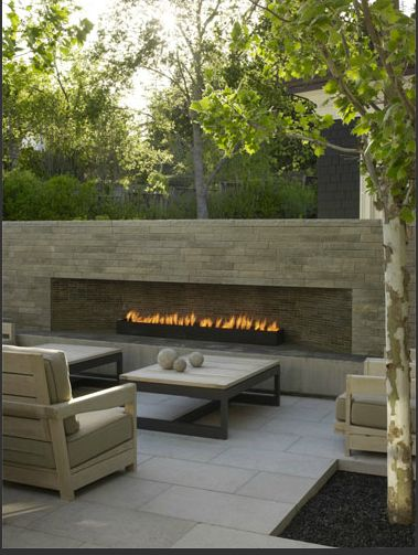 Sweet outdoor fireplace Cupertino Pinterest Terrazas