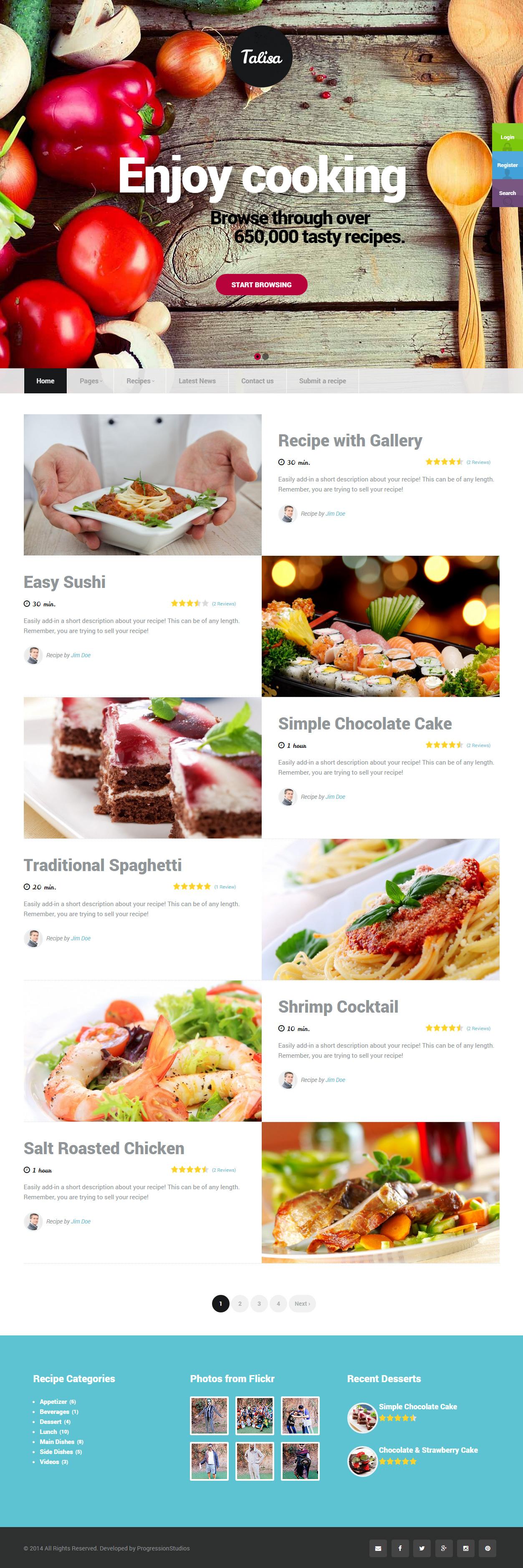 Talisa premium responsive food recipes wordpress theme wordpress talisa premium responsive food recipes wordpress theme forumfinder Image collections