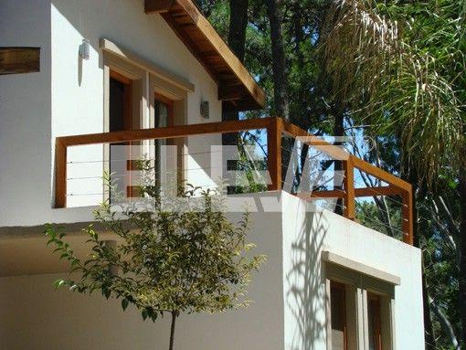 Barandillas madera y acero terraza buscar con google for Barandillas de madera para jardin