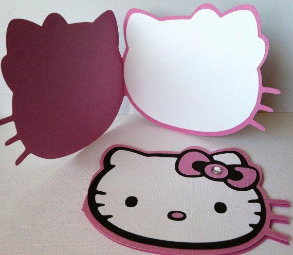 Hello Kitty Party Printable Decor Pack Pink Gold Glitter – Hello Kitty Birthday Party Ideas Invitations