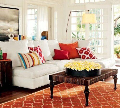 sofa con cojines color vivo Sala Pinterest Colores vivos, Sofá