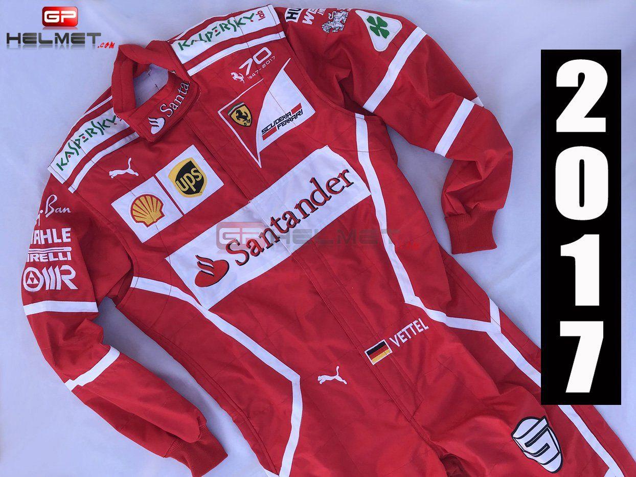 Vettel 2017 Racing Suit Ferrari F1 Racing Suit Ferrari Ferrari F1