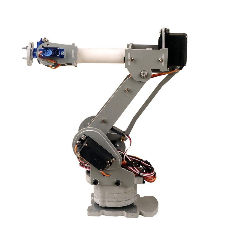 6 axis desktop robotic arm assembled robot arm arduino and robot diy 6 axis servos control palletizing robot arm model for arduino uno mega2560 fandeluxe Choice Image