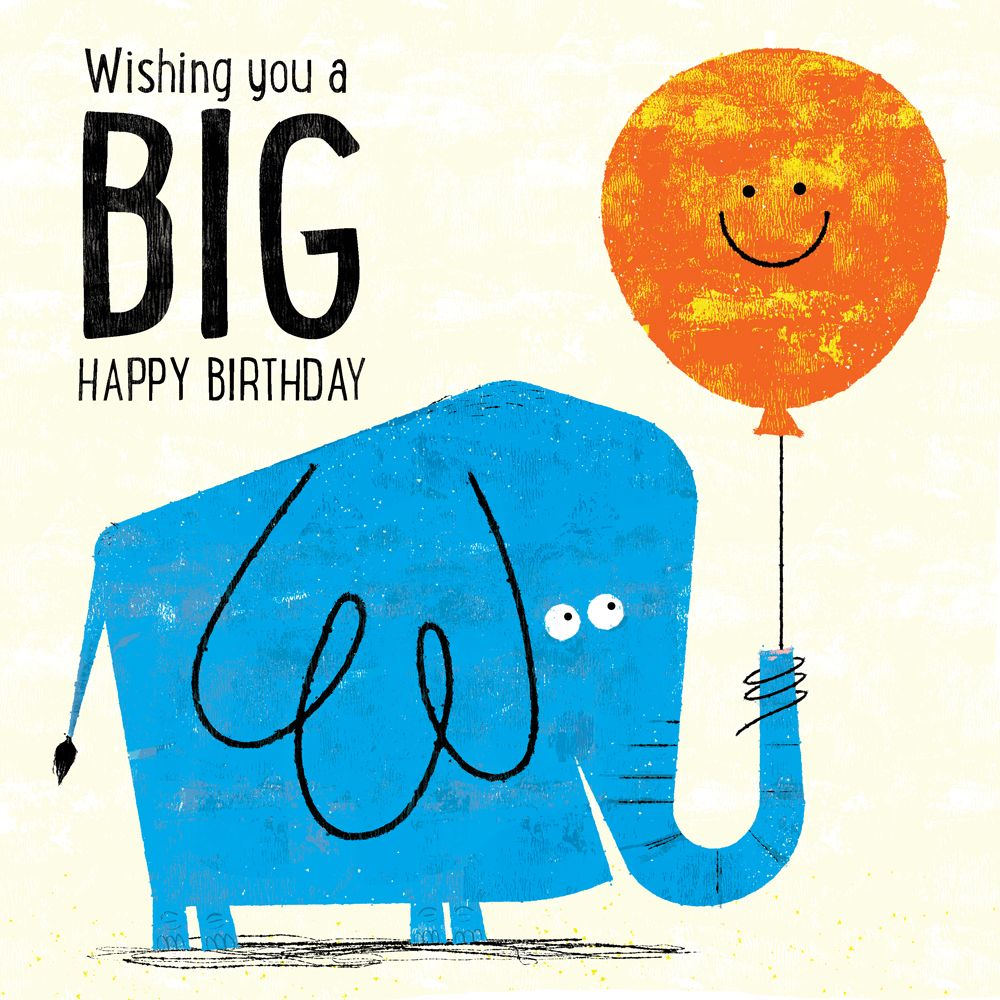 Title: Happy Birthday Blue Elephant Client: Availbe For