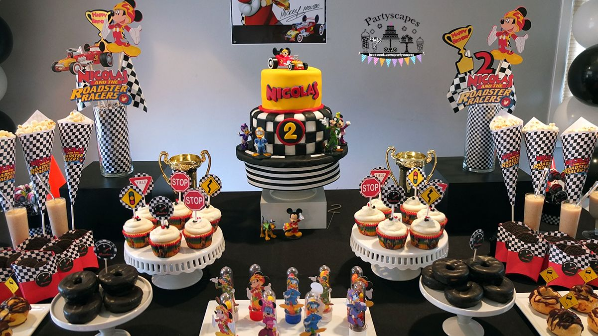 Disney MICKEY AND THE ROADSTER RACERS Birthday Cake Topper Set
