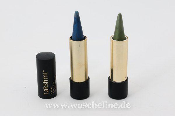Lakshmi Kajals, links Nachtblau (206C), rechts Mossgrün (203C), beide ein paar Mal verwendet, jetzt wie abgebildet (also kaum abgenutzt)