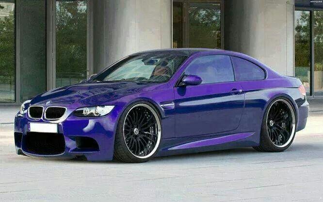 BMW E92 M3 Purple Slammed