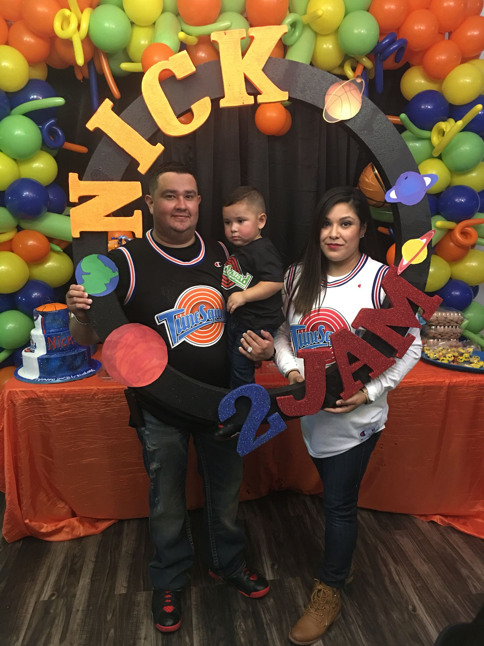 Family tune squad jersey space jam | Baby boy 1st birthday party, Kids  themed birthday parties, 1st birthday party themes