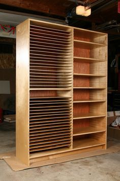Art Storage Cabinet. This is amazing and so beautifully made #artstorage @cleandesign #functionaldesign   This would be great to have.
