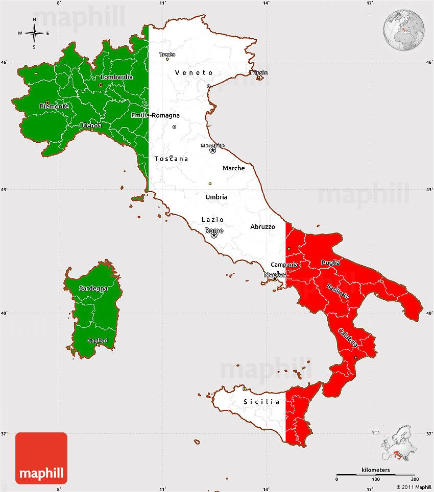 Map Of Italy Simple.Flag Simple Map Of Italy Iannucci And Rago In 2019 Italy Map