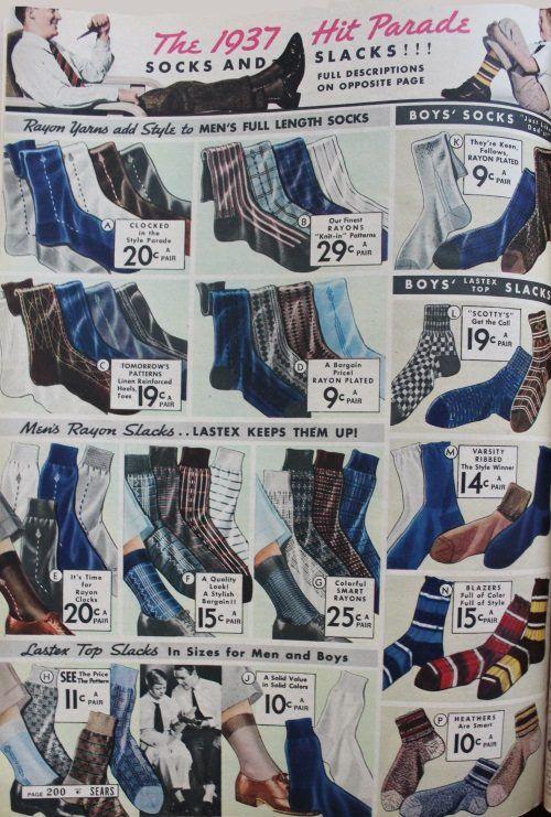 Vintage Dress Socks circa the 60/'s