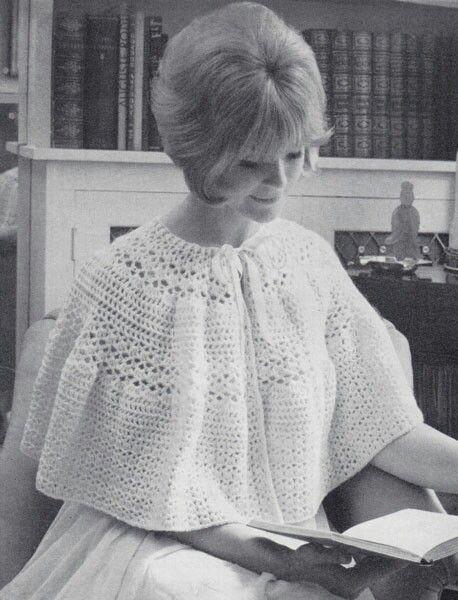 Vintage Crochet Bed Cape 1950s Shawl Pinterest Crochet