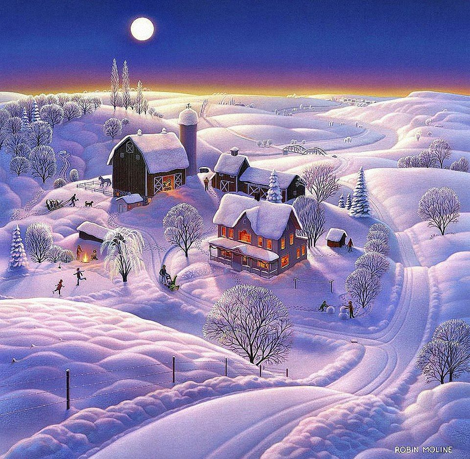 Artist: Robin Moline | Snow - Light´s and Christmas ...