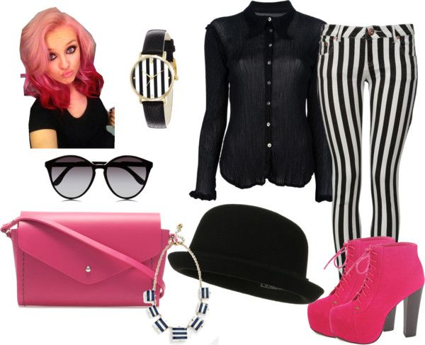 """""""Stripes"""" by amorebella123 ❤ liked on Polyvore"""