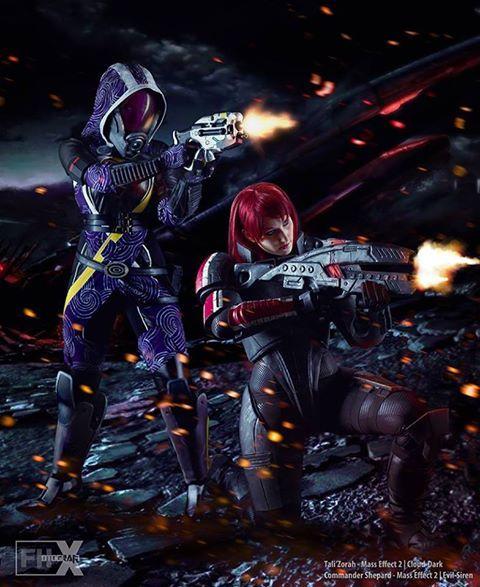 Mass Effect Tali'Zorah: Cloud-Dark Cosplay Commander Shepard: Evil-Siren Cosplay and Art Photographer: FHotografix