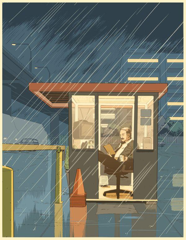 Winter's Novel by Guy Shield, via Behance