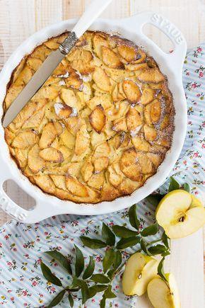 Receta de la tarta de manzana más fácil del mundo (y una de las más ricas). Receta con fotos del paso a paso y sugerencias de presentación
