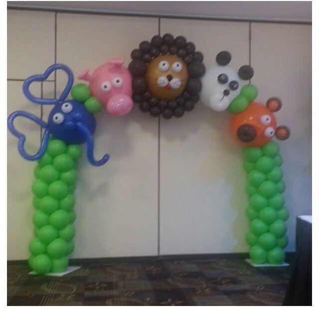 Idea para decorar un club bíblico o escuelita de vacaciones~ Arca de - imagenes de decoracion con globos