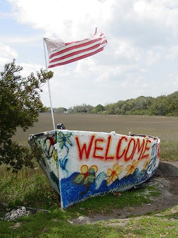 This Boat Was Displaced By Hurricanehugo Has Been Painted Just About Every Other Day On Folly Beach In South Carolina