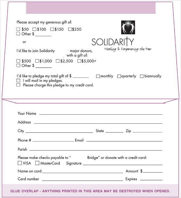 fundraising envelope template.html