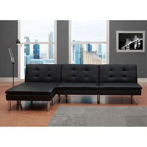 Dorel Home Products Chelsea Leather Convertible Futon