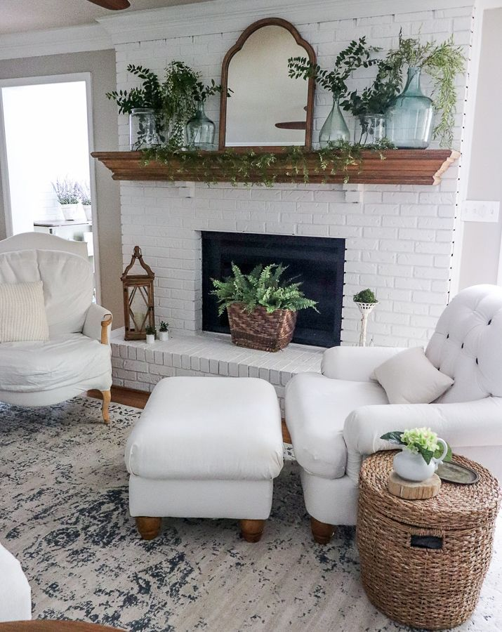 Photo of Easy Summer Fireplace Update | Noting Grace